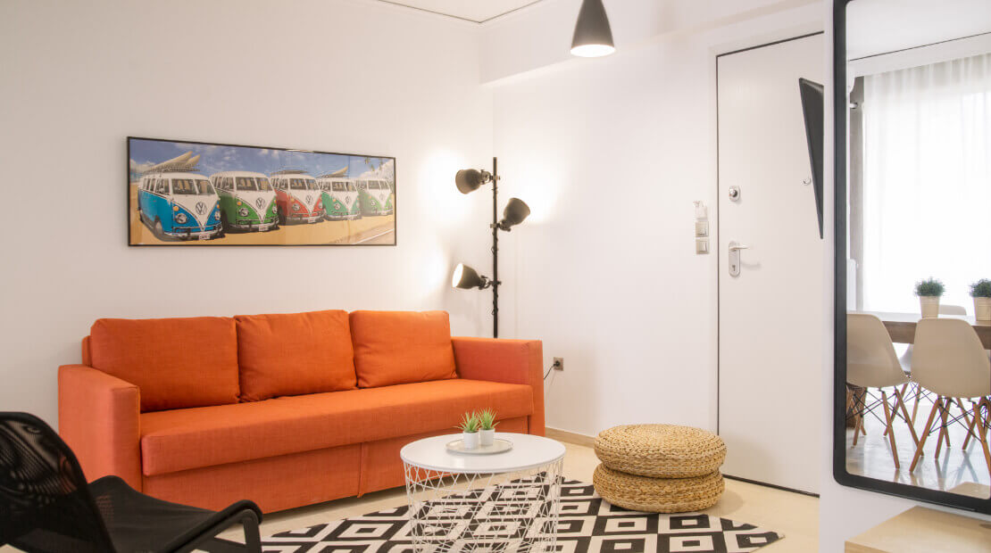 Apartment for Sale in Athens Center 64sqm - Living Room | GConstructions